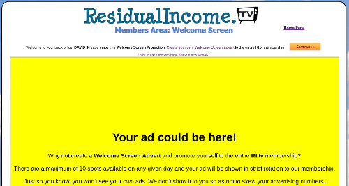 residual income tv review