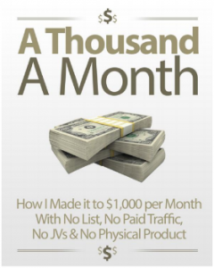 How to earn a thousand a month creating and selling your own e-book.