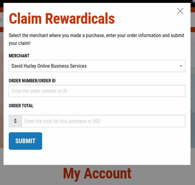 claim rewardicals form