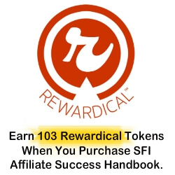 Earn 103 Rewardicals When You Buy SFI Affiliate Success Handbook