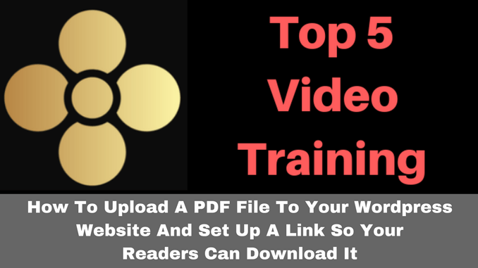 How to upload a PDF file to Wordpress