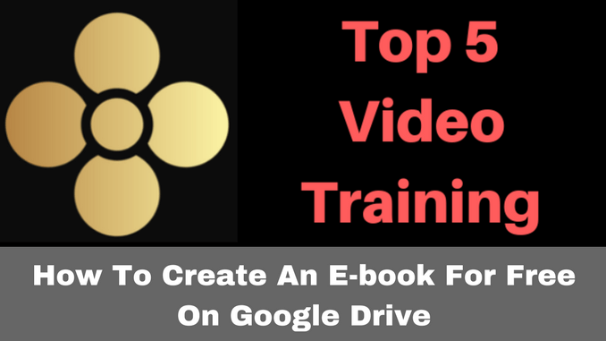 How to create an ebook for free on Google Drive.