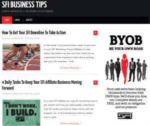 SFI Blog Set Up Service