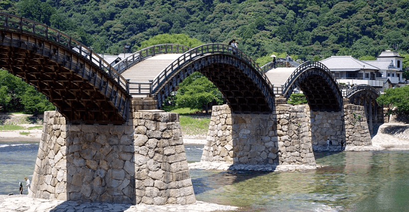 Kintaikyo bridge, Iwakuni, Japan.
