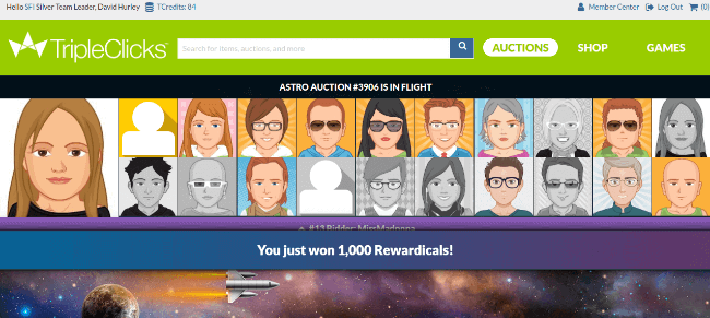 Astro Auctions delivers a Constellation Prize of 1000 Rewardicals!